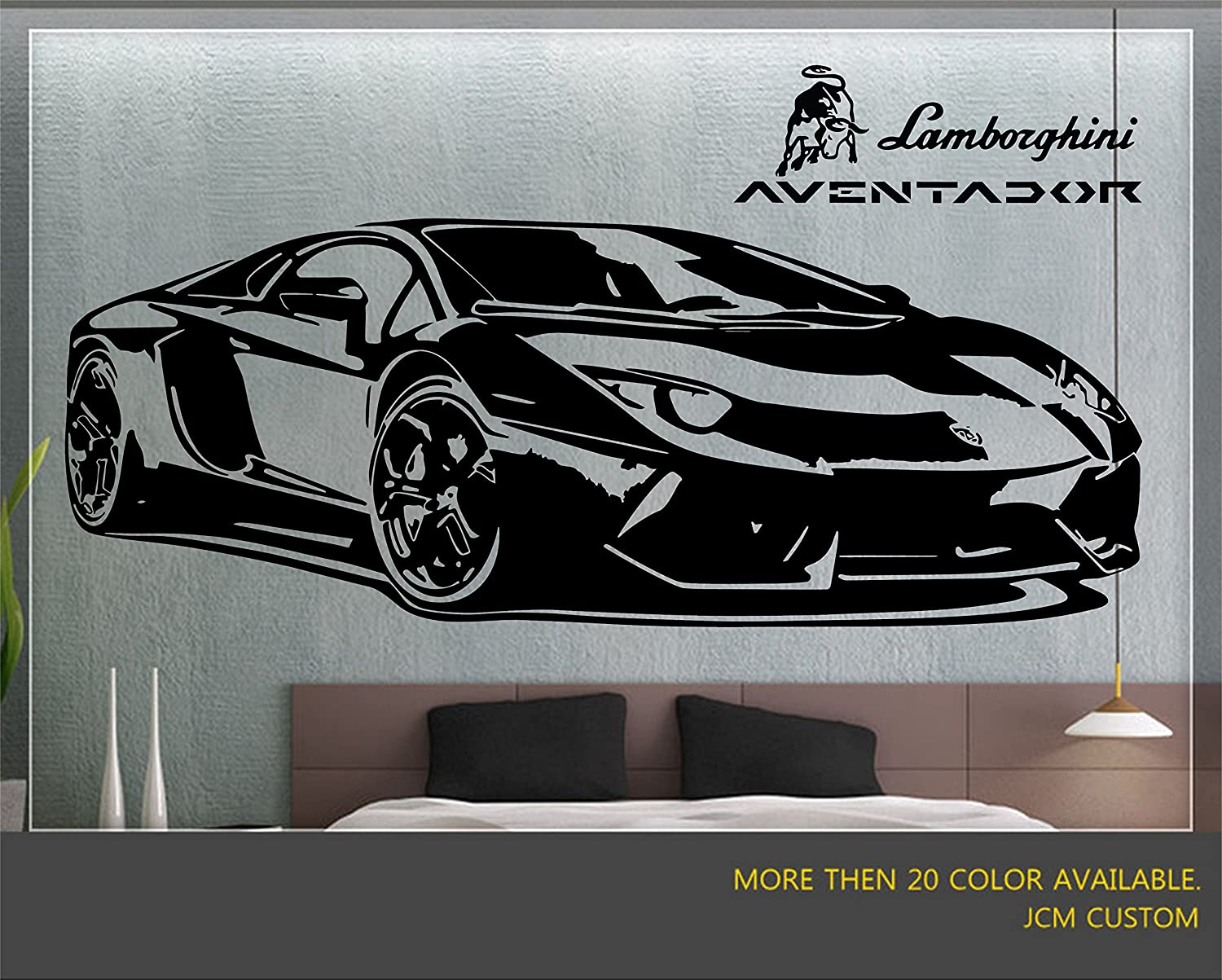 Jcm custom aventador sport car removable wall vinyl decal stickers 58 x 22 amazon com