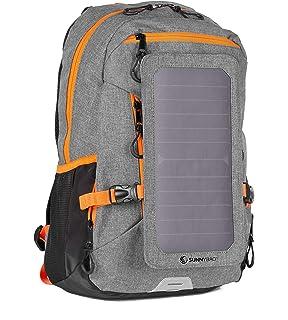 112d9726e2 SunnyBAG Explorer+, Zaino con Pannello Solare Integrato da 6Watt, Zaino  Solare Impermeabile e Resistente