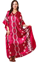 Up2date Fashion Caftan with Cherry Blossom Print, One Size, Style#Caf-67