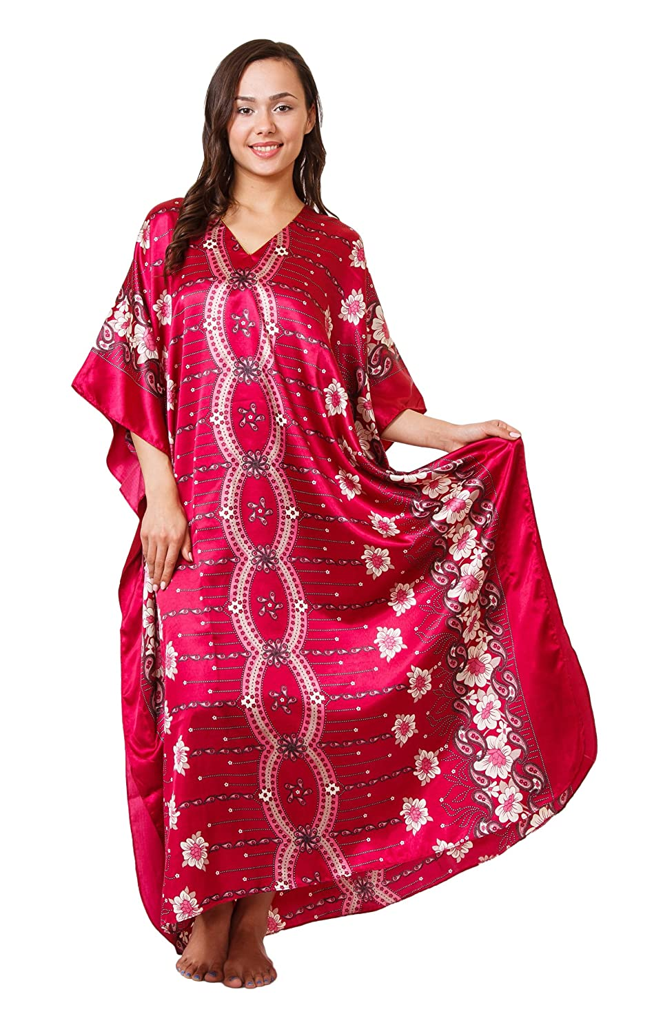 Up2date Fashion Caftan with Cherry Blossom Print, One Size, Style#Caf-67 Caf-61