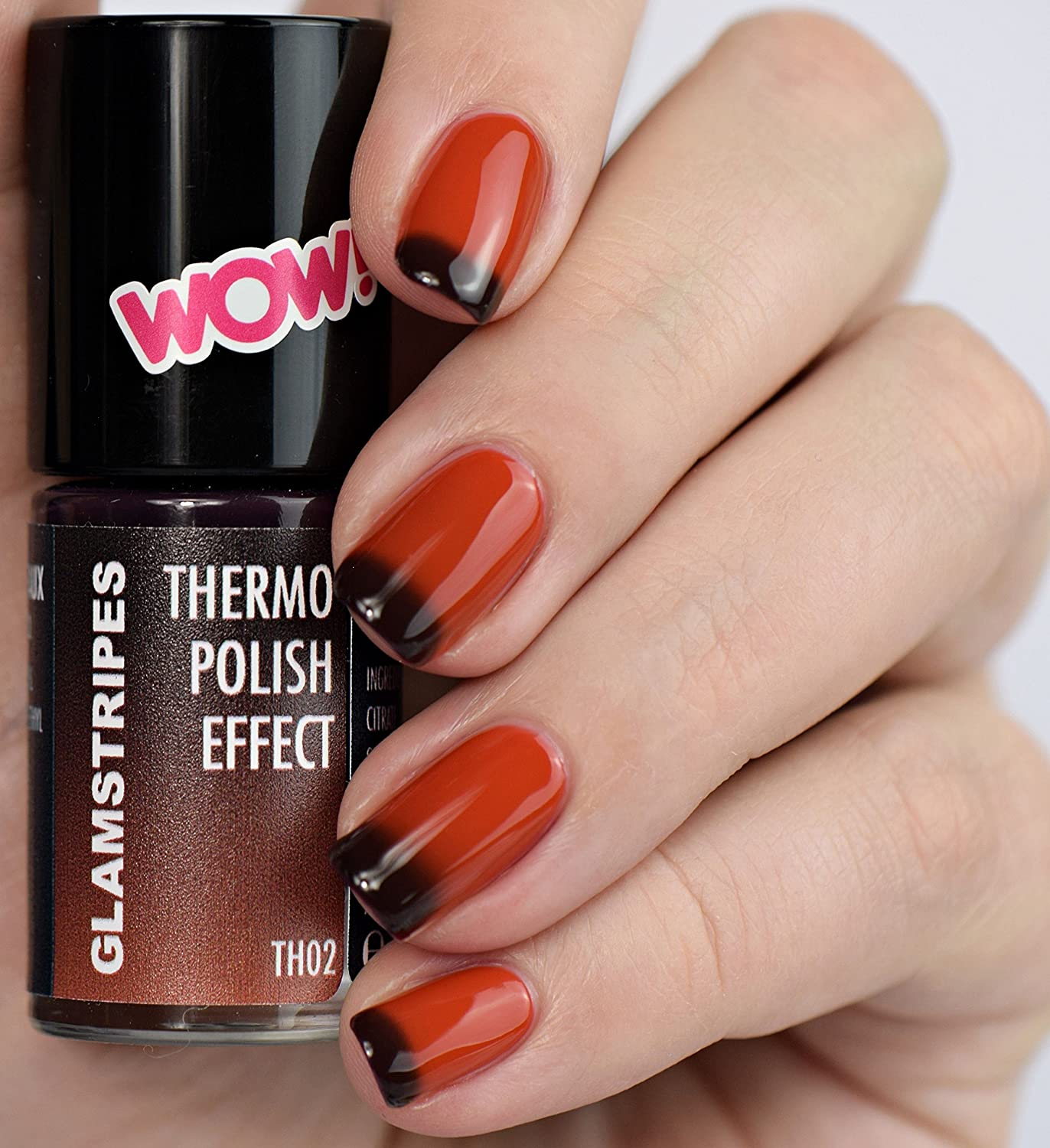 THERMO NAIL POLISH EFFECT – RED TO BORDEAUX - NEW! THERMO NAGELLACK Trendliner-Cosmetics GmbH