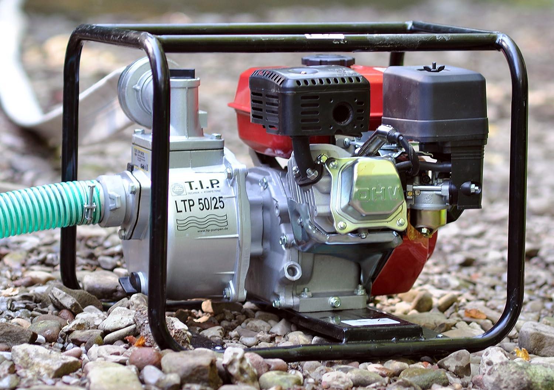 T I P Benzinmotorpumpe Wasserpumpe Gartenpumpe Ltp 50 25 Bis 25 000 L H Fordermenge Amazon De Garten