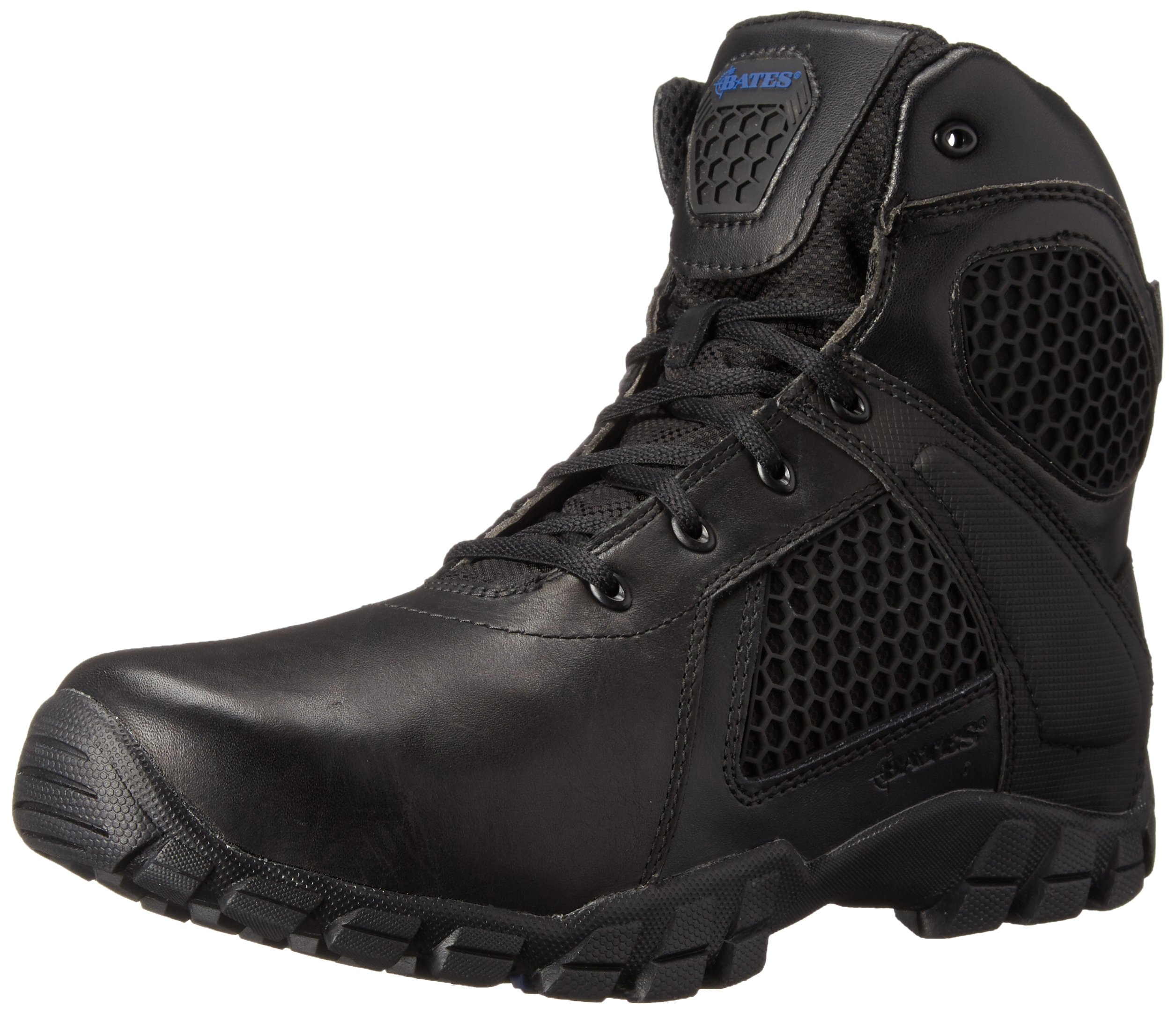 Bates Men's 6 inch Strike Side Zip Waterproof Tactical Boot, Black, 10 XW US