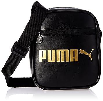 3186930d0f911 PUMA Umhängetasche Campus Portable Black Gold