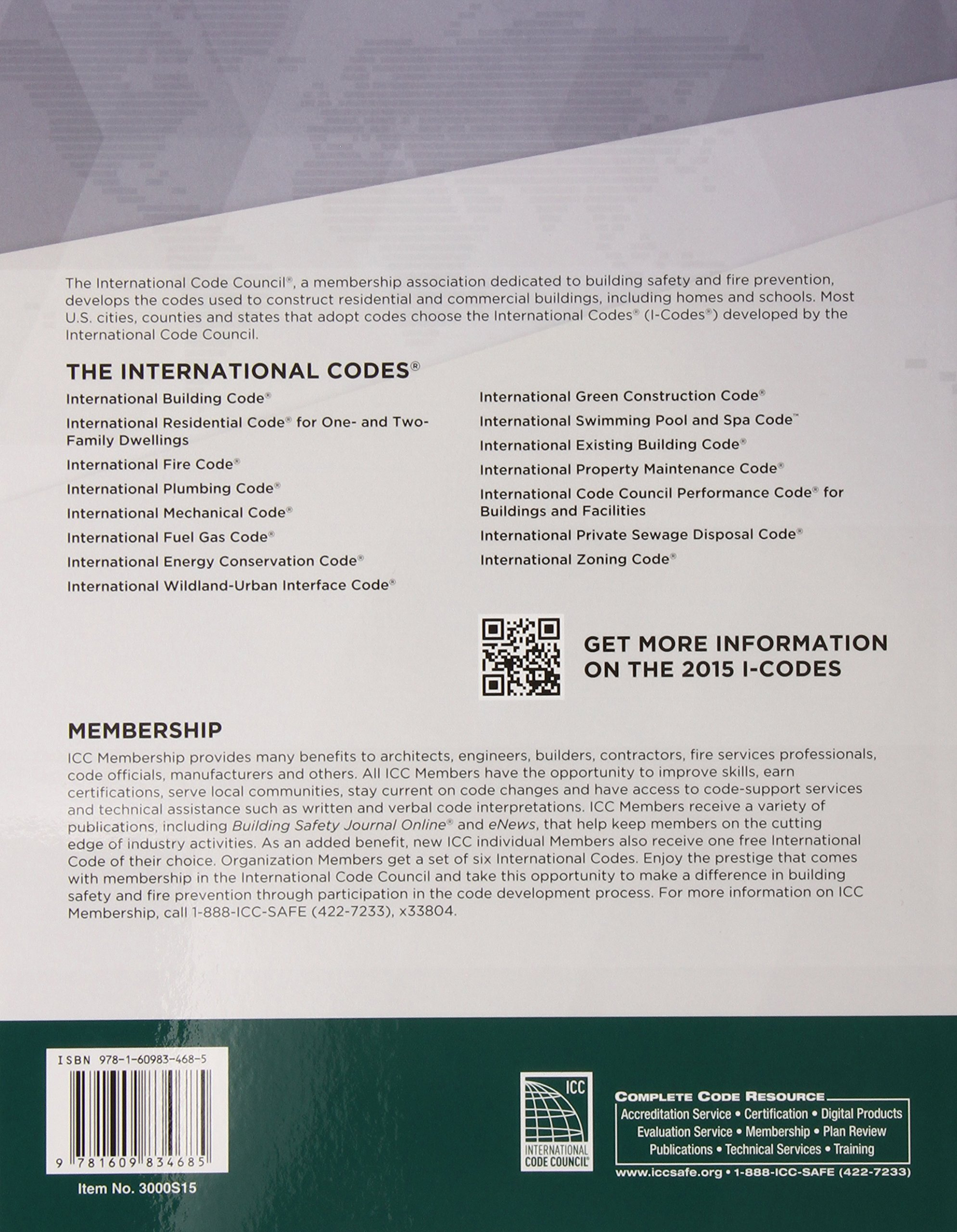 2015 International Building Code by ICC (distributed by Cengage Learning)