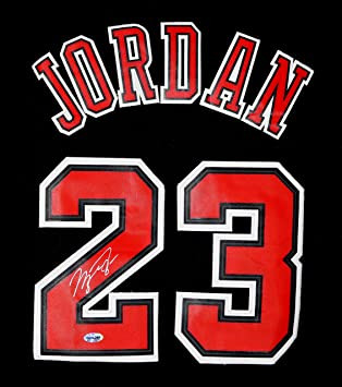 Michael Jordan Chicago Bulls Signed Autographed Short Sleeve Black 23  Jersey
