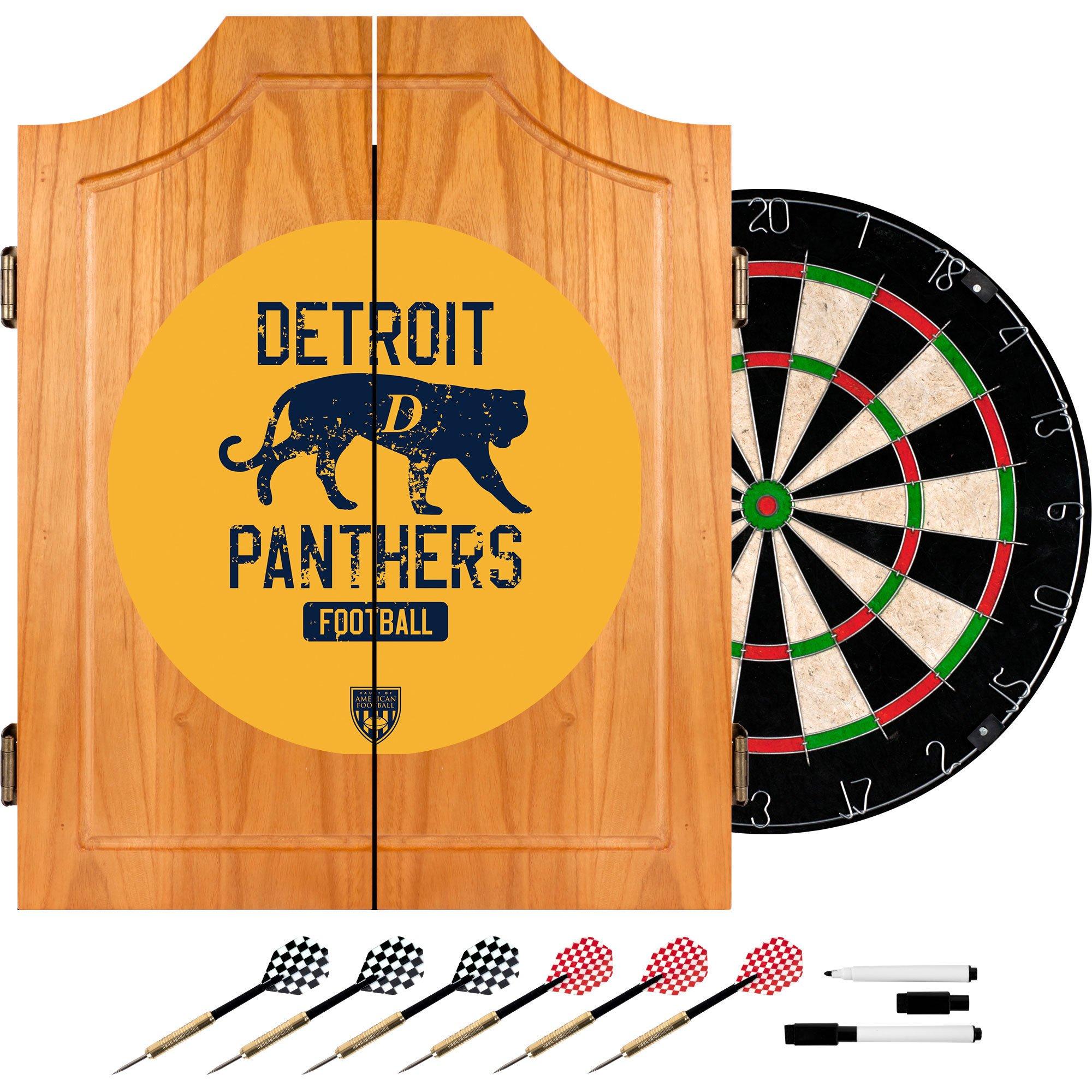 VAF Detroit Panthers Wood Dart Cabinet Set by VAF