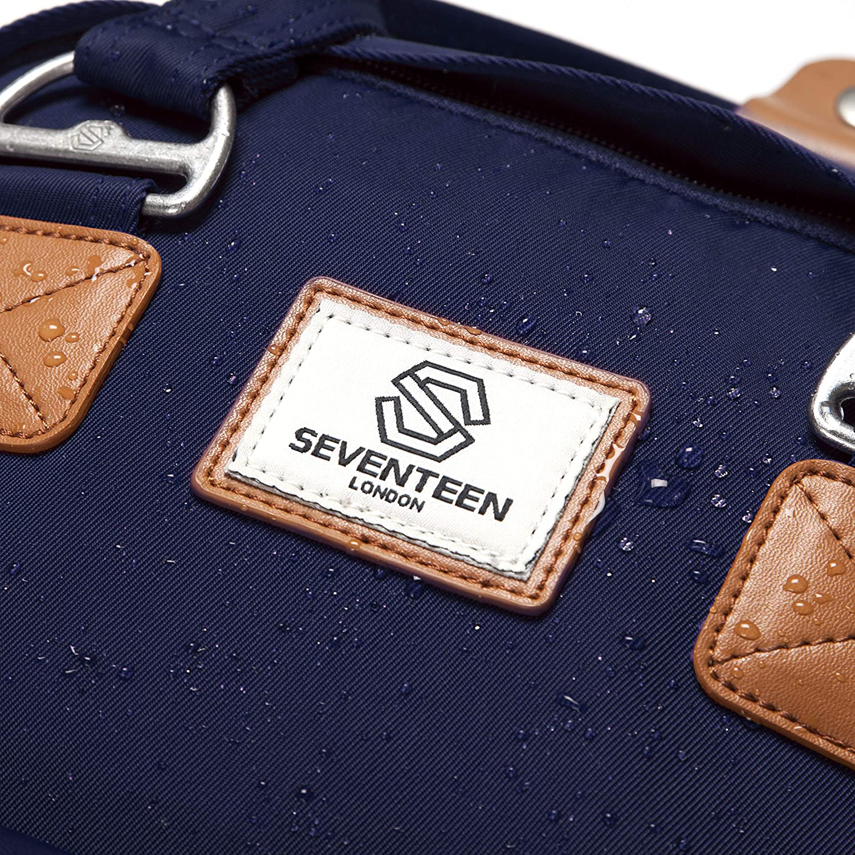 Parfait pour Un Ordinateur Portable jusqu/à 13 Sac /à Dos Unisexe Camden en Bleu Marine dans Un Style Moderne et Multifonctionnel SEVENTEEN LONDON