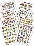 Kid's 1st Learning Charts [S] : Set 3 (English Alphabets, Birds, Hindi Varnamala, Flowers, Fruits, Domestic Animals, Vegetables & Wild Animals)