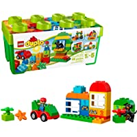 LEGO Duplo Creative Play 10572 All-in-One-Box-of-Fun, Open Ended Toy for Imaginative Play with Large LEGO bricks made for toddlers and preschoolers (65 pieces)