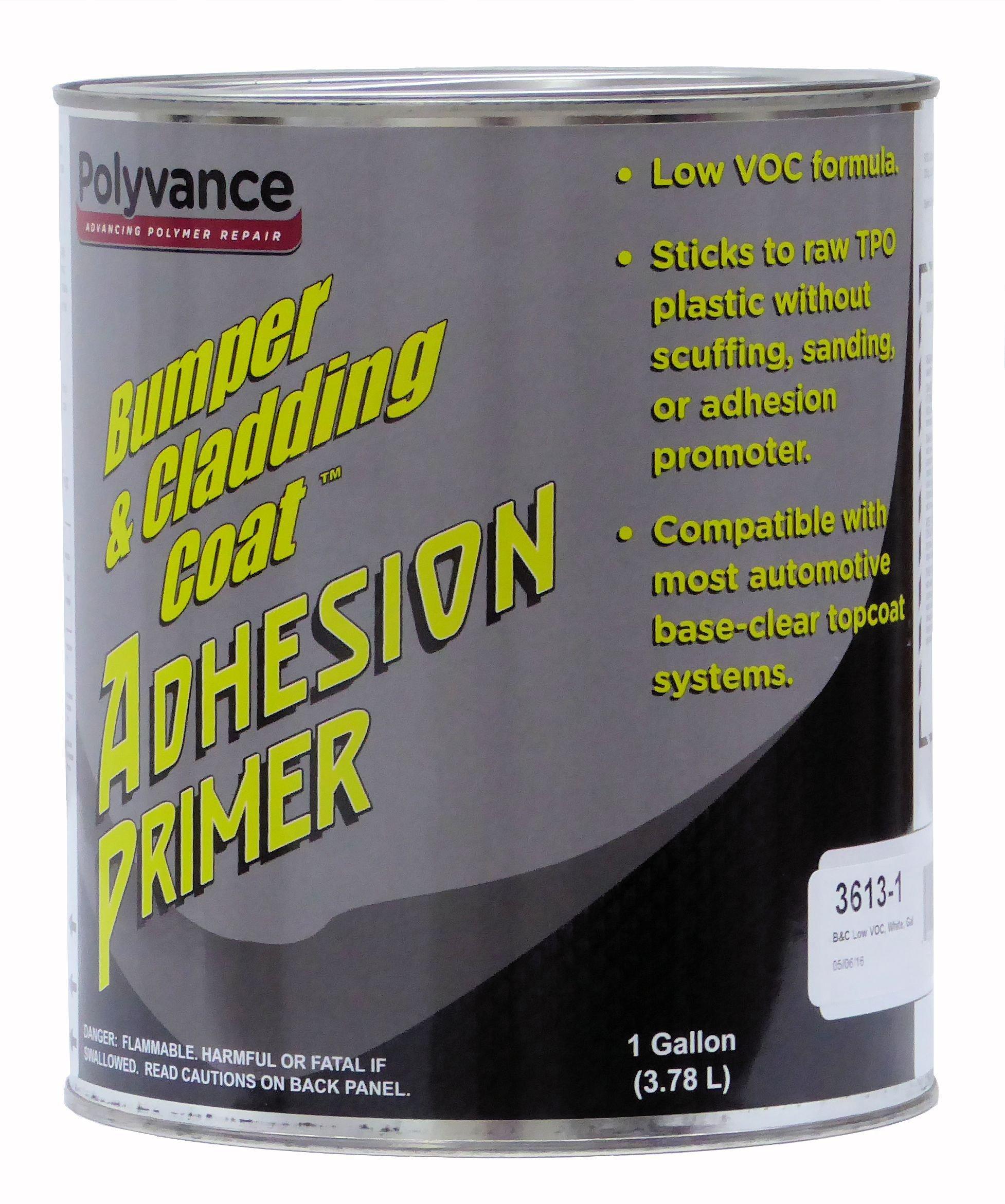 Bumper and Cladding Adhesion Primer, Low VOC, White, Gallon