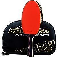 Caleson Profesional Raqueta De Tenis De Mesa. Avanzado. Raqueta De Tenis Ping Pong Paddle. Abierto Agarre, Long-handle Red C 2