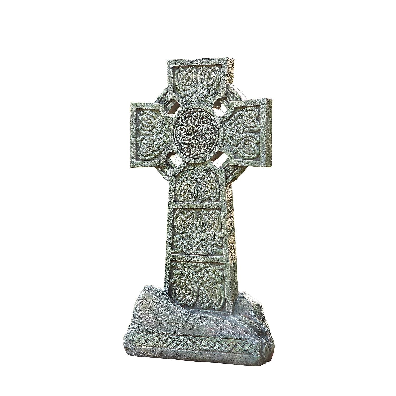 Joseph's Studio Celtic Cross Garden Statue, 16.25-Inch, Made of Resin Stone