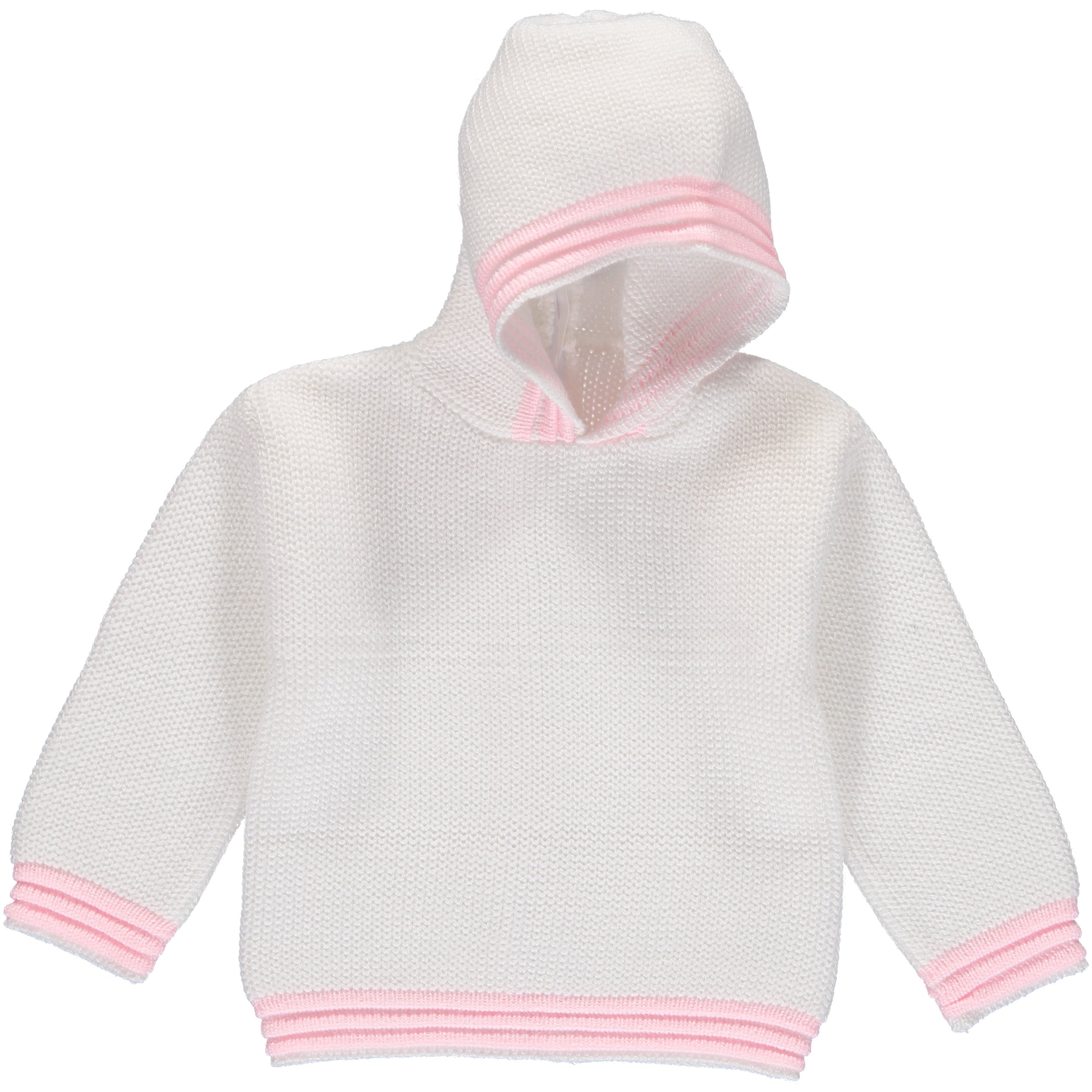 Julius Berger White & Pink Zip Back Hoodie - 24 Months by Julius Berger