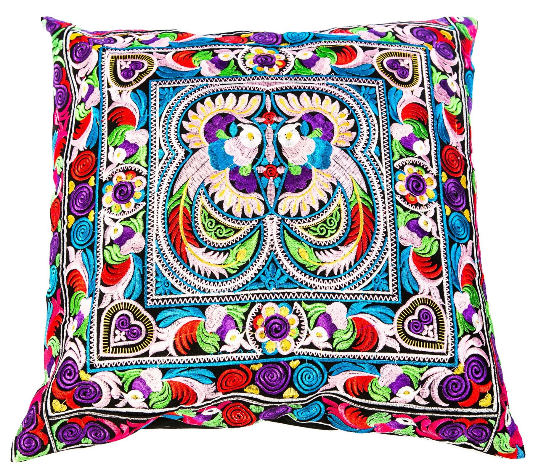 Lofbaz Hmong Pillowcase Peacock Pink One Size