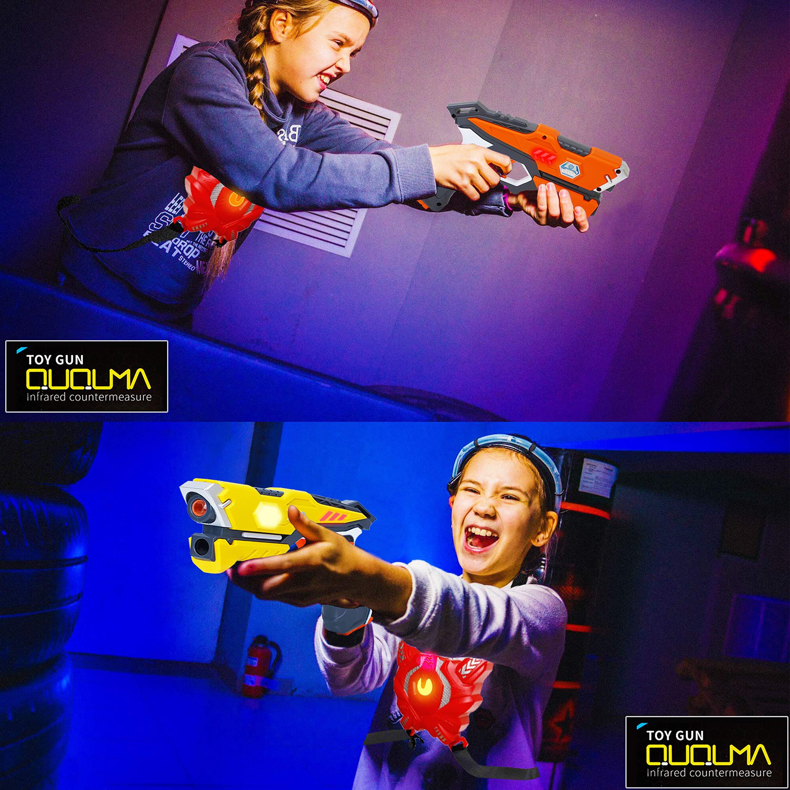 QUQUMA Infrared Laser Tag Set 4 Guns 4 Vests - Indoor Outdoor Laser Gun Kit Toy for Girl & Boy Laser Tag Game Set Best Gift Boys Girls(Laser Guns) by QUQUMA (Image #2)