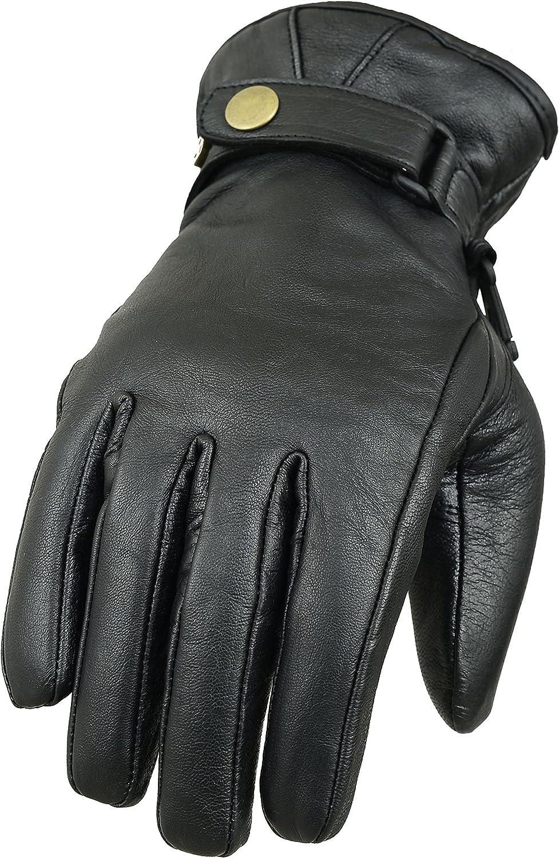 Klassische Motorradhandschuhe aus echtem Leder