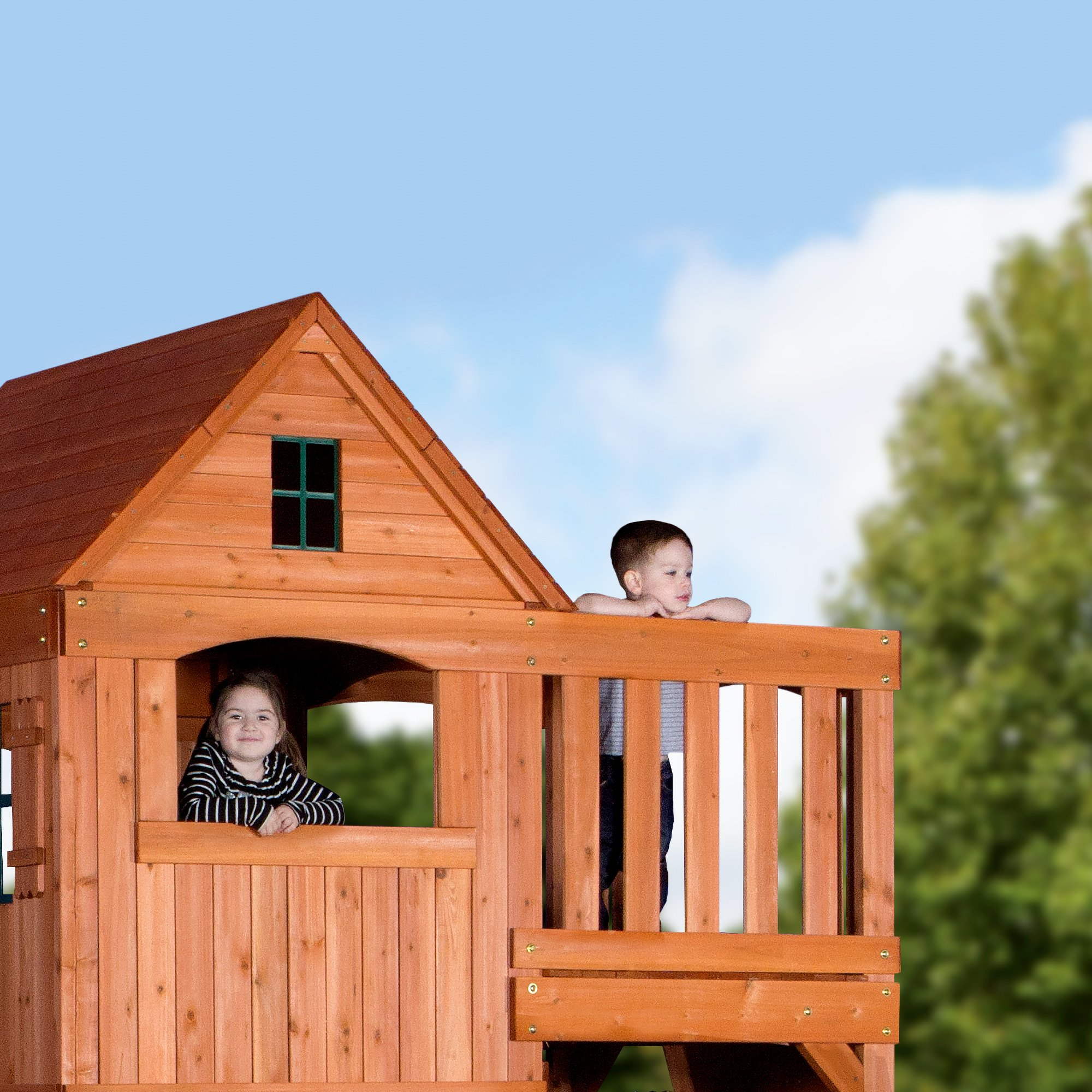 Backyard Discovery Pacific View All Cedar Wood Playset Swing Set by Backyard Discovery (Image #5)