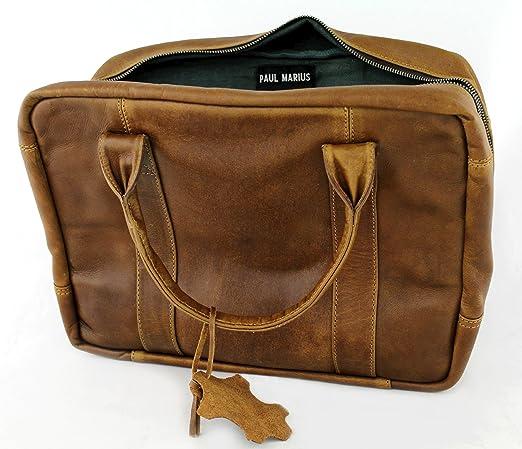 30bd325e6d LE MECANOGRAPHE sacoche PC/MAC sac ordinateur 13 pouces cuir couleur  naturel PAUL MARIUS: Amazon.fr: Bagages