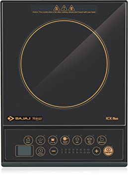 Bajaj ICX Neo 1600-Watt Induction Cooker (Black) Induction Cooktops at amazon