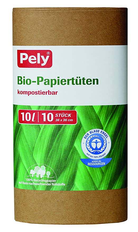 pely 8647 Pelyclean - Bolsas de Papel Reciclado (10 L, 10 ...