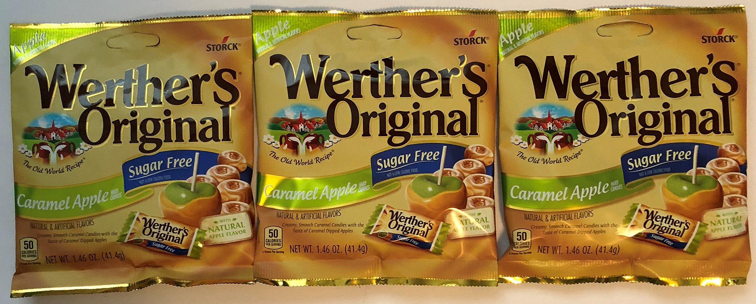 Werther's Original Sugar Free Caramel Apple Hard Candies, 1.46 oz (3-Pack) by Werther's