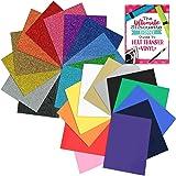 Siser Glitter and Siser Easyweed Heat Transfer Vinyl Assorted Starter Bundle - 24 Top Color Sheets