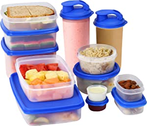 MILTON [13 Pack] Food Storage Containers with Lids- Plastic Food Containers with Lids- Plastic Containers Set - Airtight Leak Proof BPA Free Plastic Container Set For Kitchen Storage Lunch