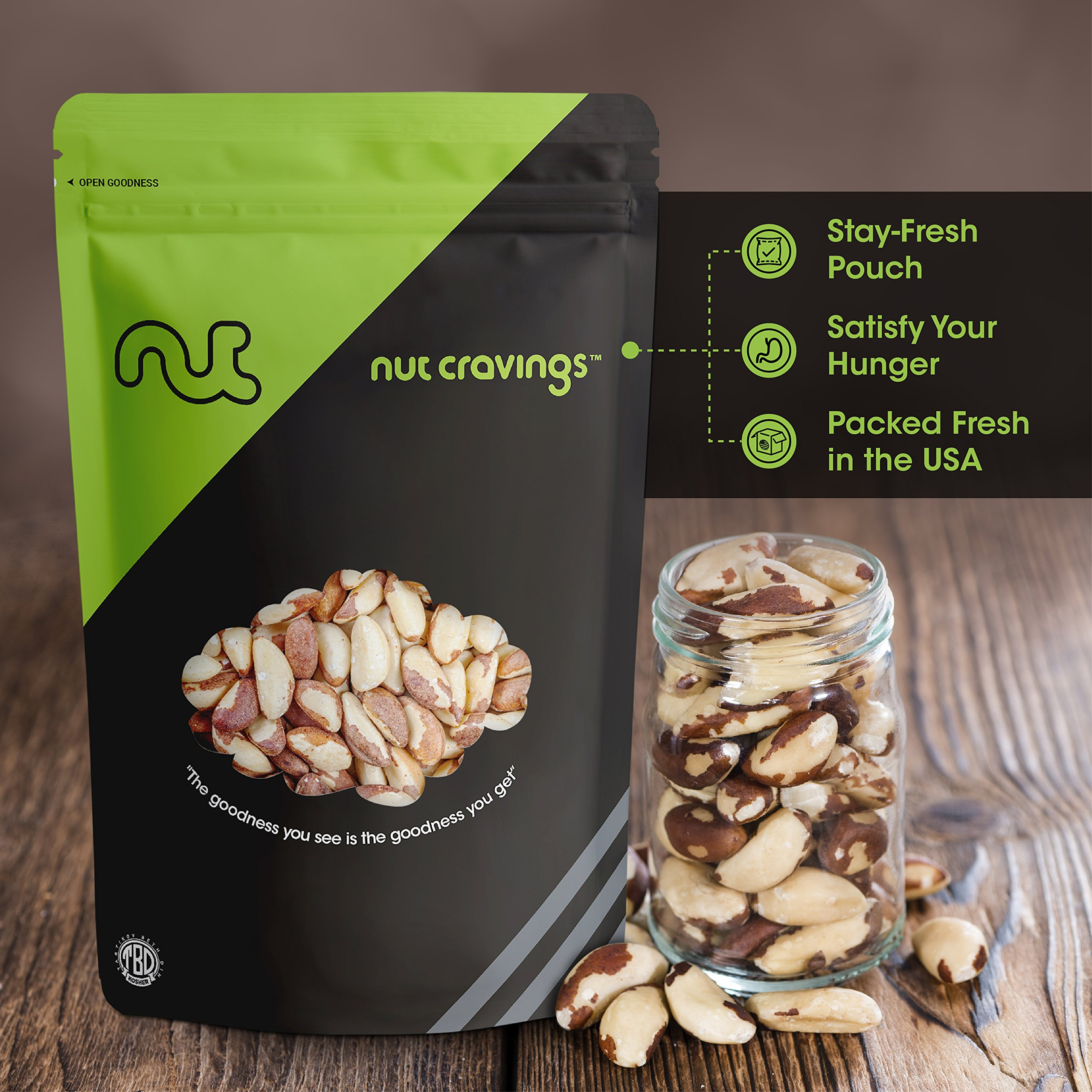 Nut Cravings Raw Compare To Organic Brazil Nuts (3 Pounds) – Whole, Unsalted, No Shell Brazilian Nuts – 48 Ounce by Nut Cravings (Image #6)