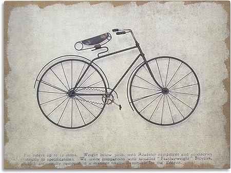 Moycor Decoración - Cuadro bicicleta negra madera/metal, 80x4,5x60 ...