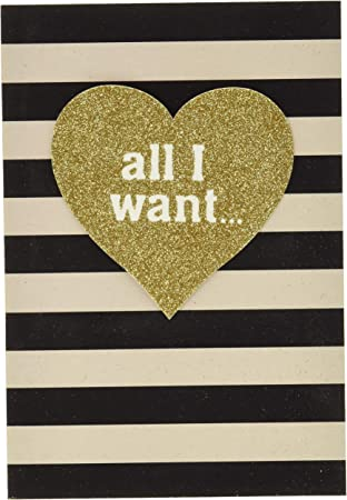 Be My Valentine Sparkly Stars Valentines Day Card New with Envelope