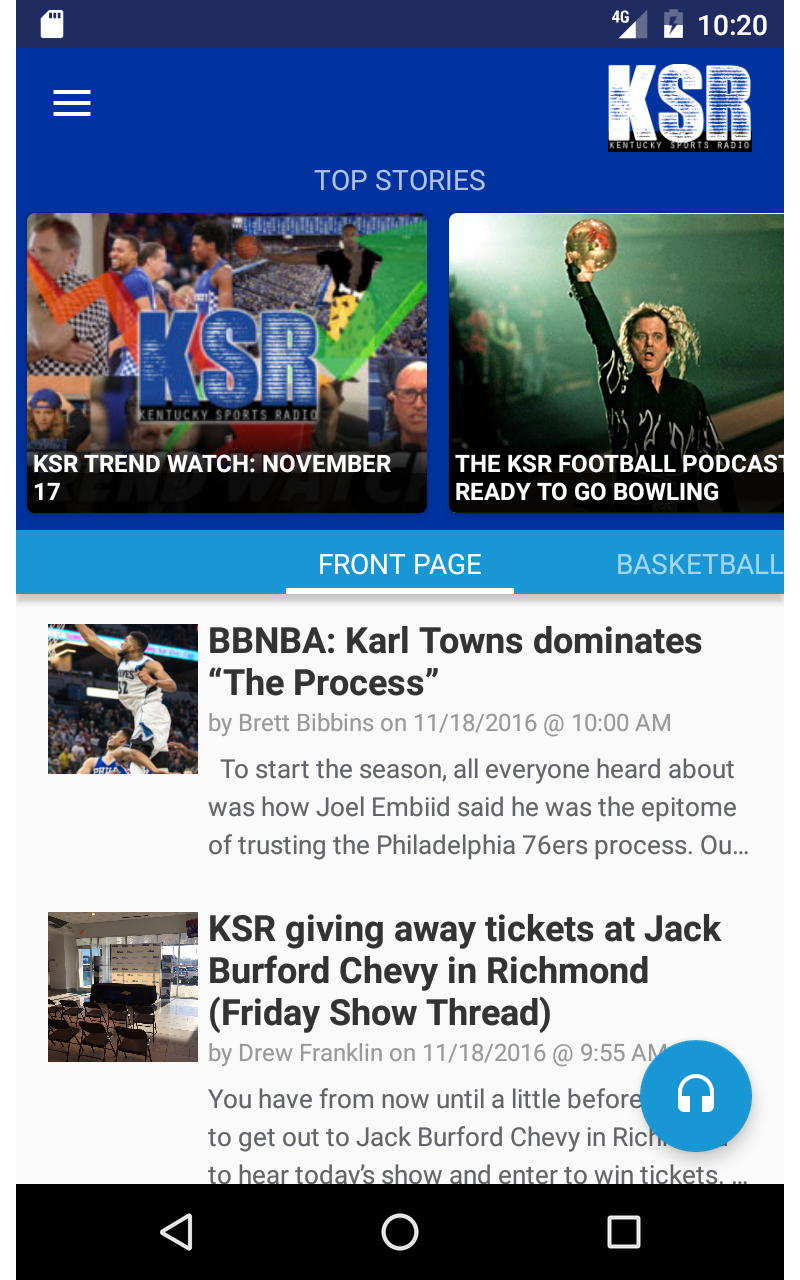 Amazon Com Kentucky Sports Radio Ksr Appstore For Android
