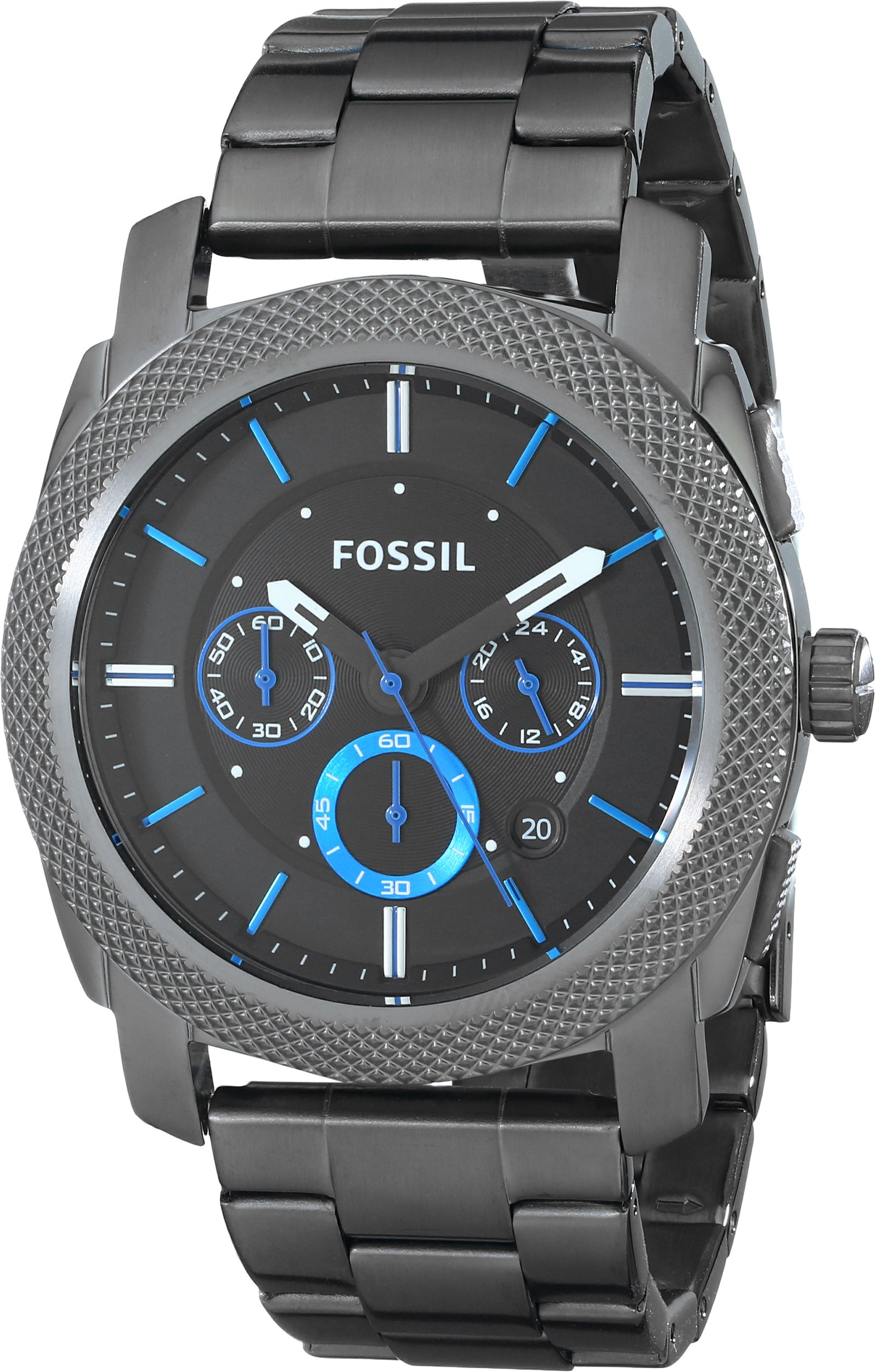 Fossil Men's Machine Quartz Stainless Steel Chronograph Watch, Color: Grey (Model: FS4931) by Fossil