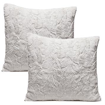 Amazon.com: Chanasya funda para almohadones de piel difusa ...