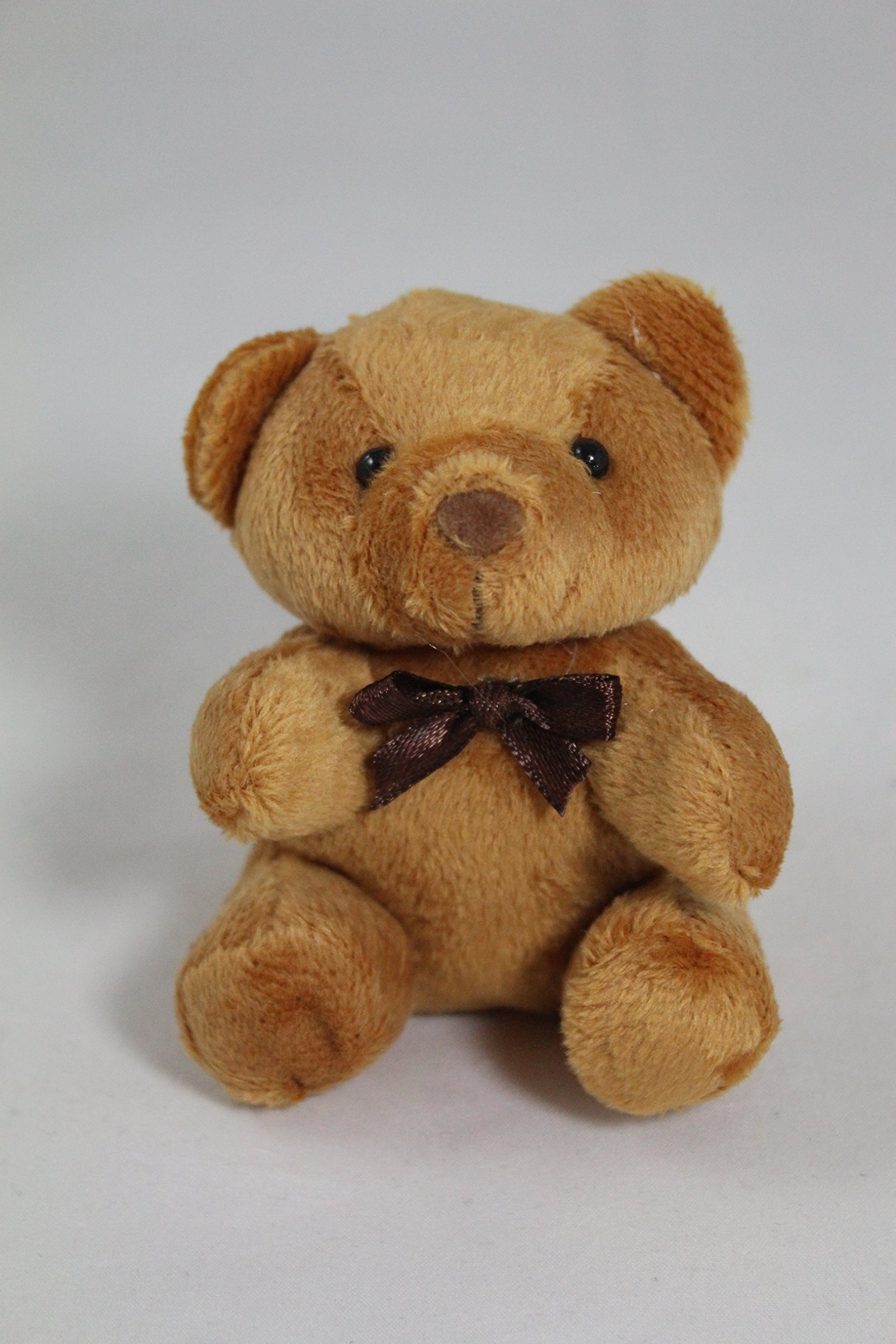 Teddy Bear Plush Keychain (Brown)