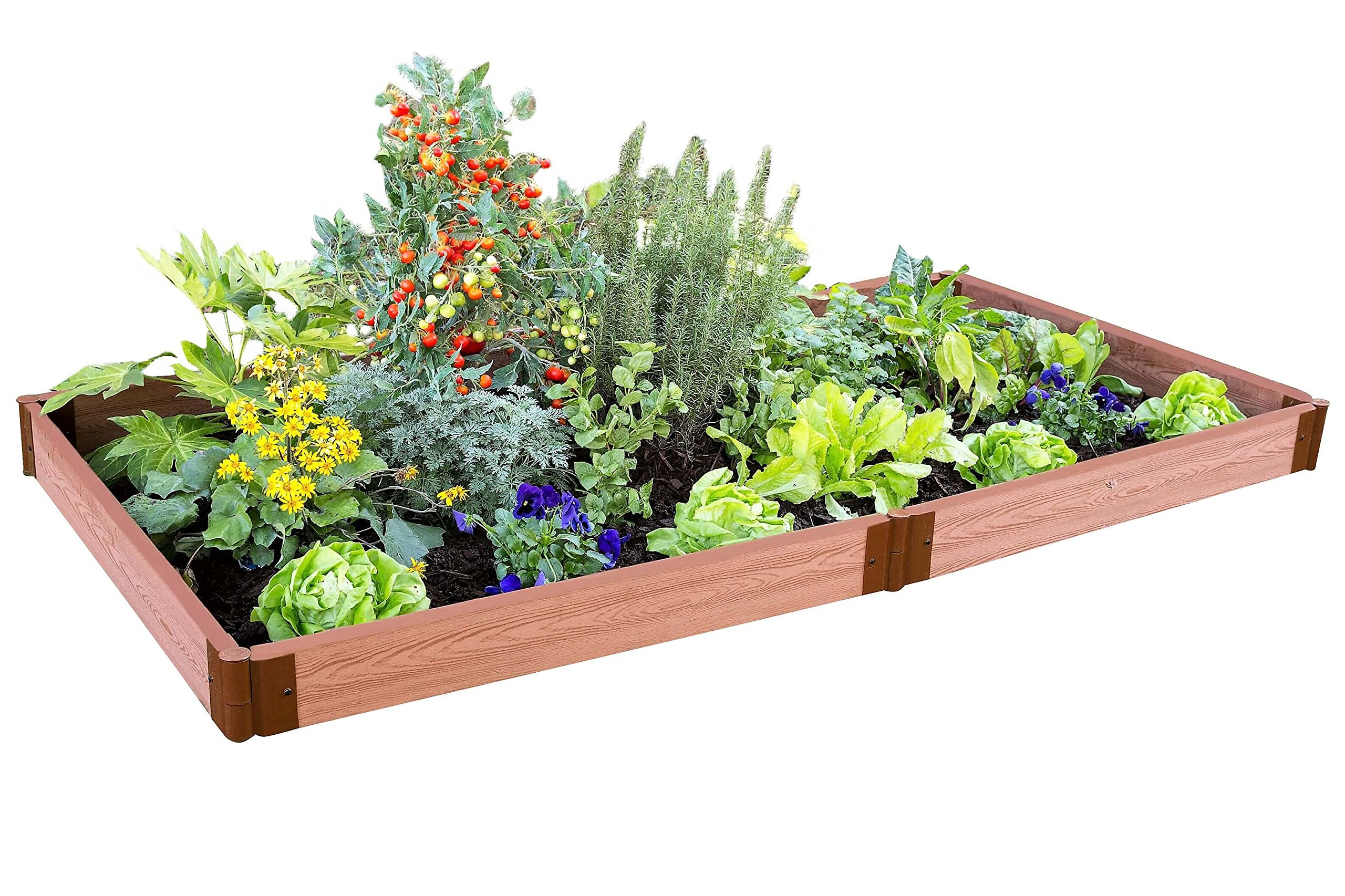 Frame It All Two Inch Series 4' x 8' x 5.5'', Composite Raised Garden Bed Kit