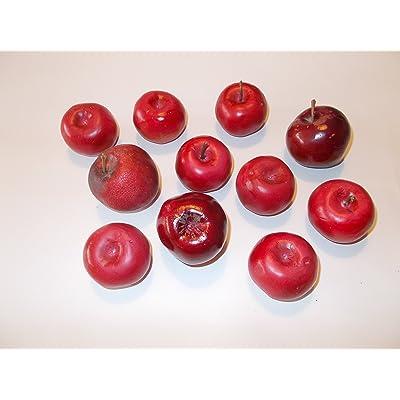 11petits de Noël Pommes–attrappen alimentaire 2. Choix, pomme Food Dummy pour la décoration, imitation de Scène Théâtre Requisite, décoration et le auslagen conce