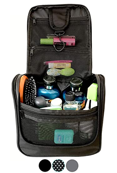 b67a399042fd Amazon.com   WAYFARER SUPPLY Hanging Toiletry Bag  Pack-it-flat Travel Kit