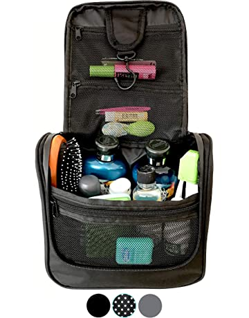 WAYFARER SUPPLY Hanging Toiletry Bag  Pack-it-flat Travel Kit 1f9f77075c1a1