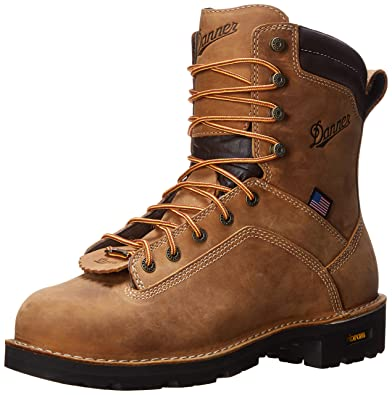 Amazon.com | Danner Men's Quarry USA AT Work Boot | Industrial ...
