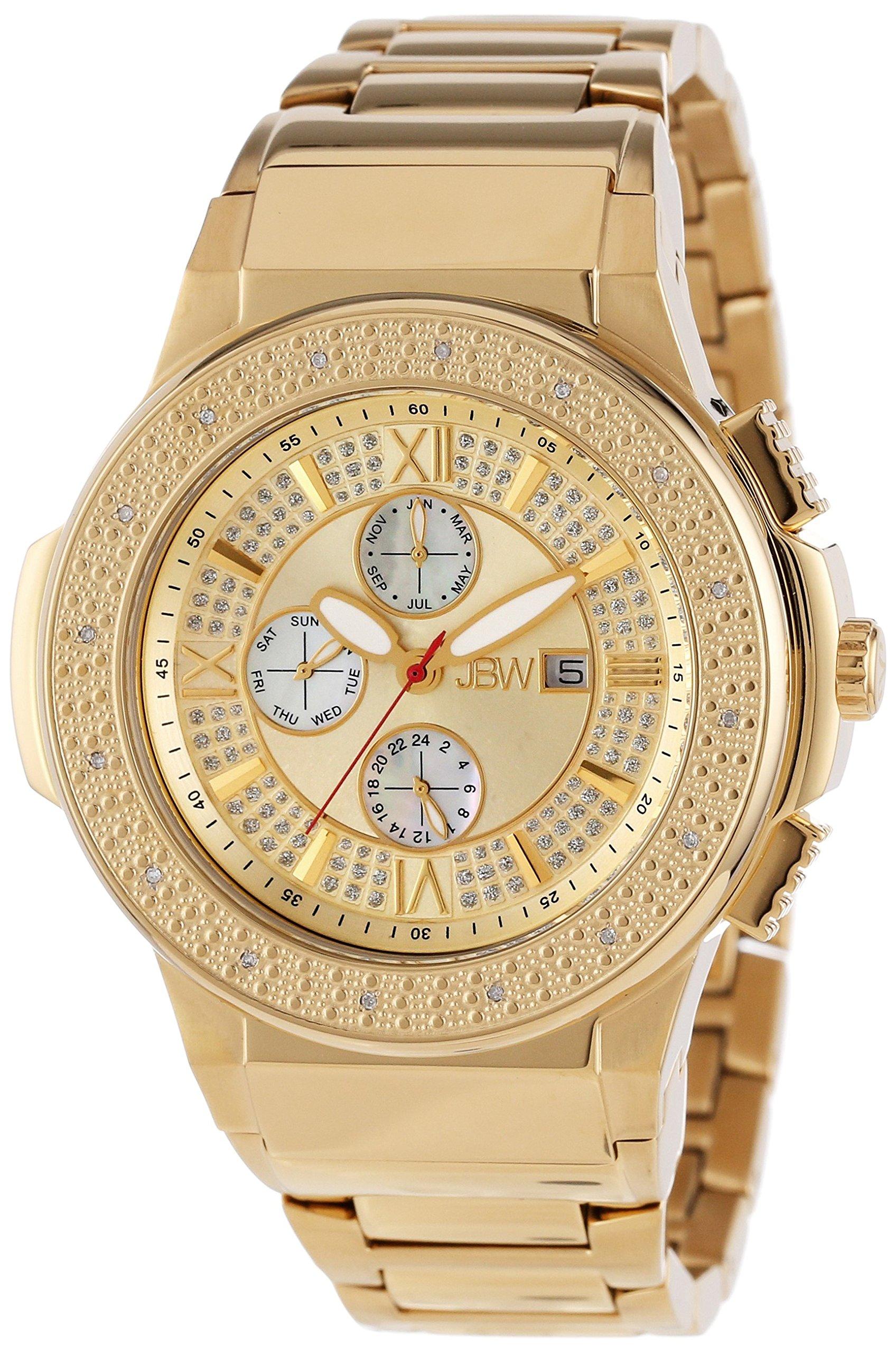 "Jbw Men's Jb-6101-D ""Saxon"" 18K Gold-Plated Diamond-Accented Watch 10"