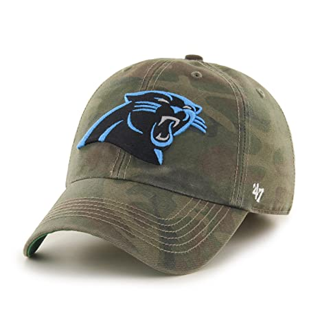 02455f63f Image Unavailable. Image not available for. Color: '47 NFL Carolina Panthers  Harlan Franchise Fitted Hat ...