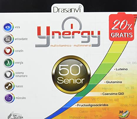 Ynergy Senior +50 36 cápsulas con Vitaminas, Minerales Drasanvi
