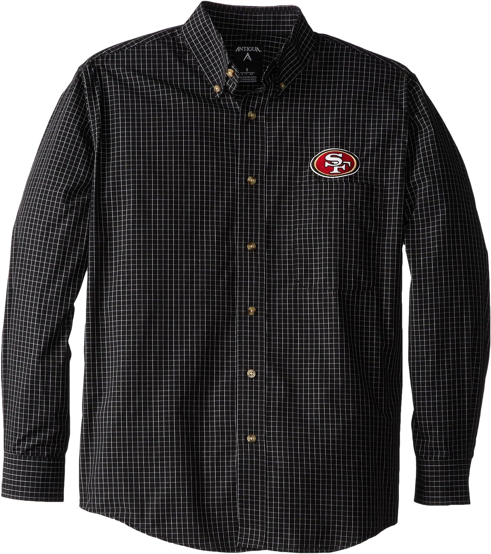 NFL Men's Popular shop is the lowest price challenge San low-pricing Francisco 49ers Dress Shirt Esteem Woven