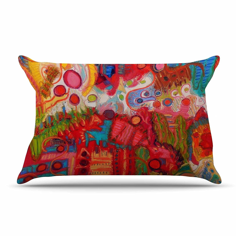 30 by 20-Inch Kess InHouse Jeff Ferst Desert Under A Full Moon Red Pink Standard Pillow Case 30 X 20