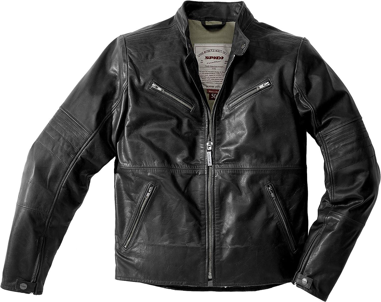 SPIDI - Chaqueta de piel para garaje, color negro