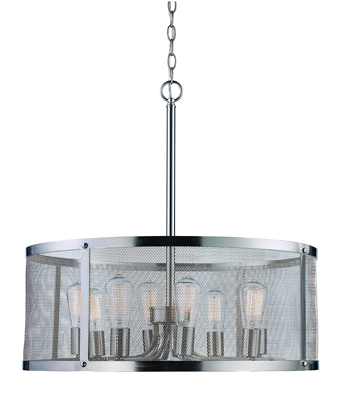 Brushed Nickel Trans Globe Lighting 10228 BN Indoor Mesh 24.75 Pendant