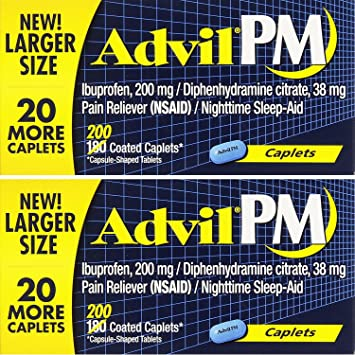 Amazon Advil Pm Caplets Family Pack Of 400 Count Health