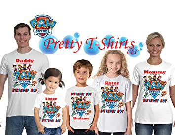 Girl Paw Patrol Birthday Shirt ADD Any Name And Age SKYE Party
