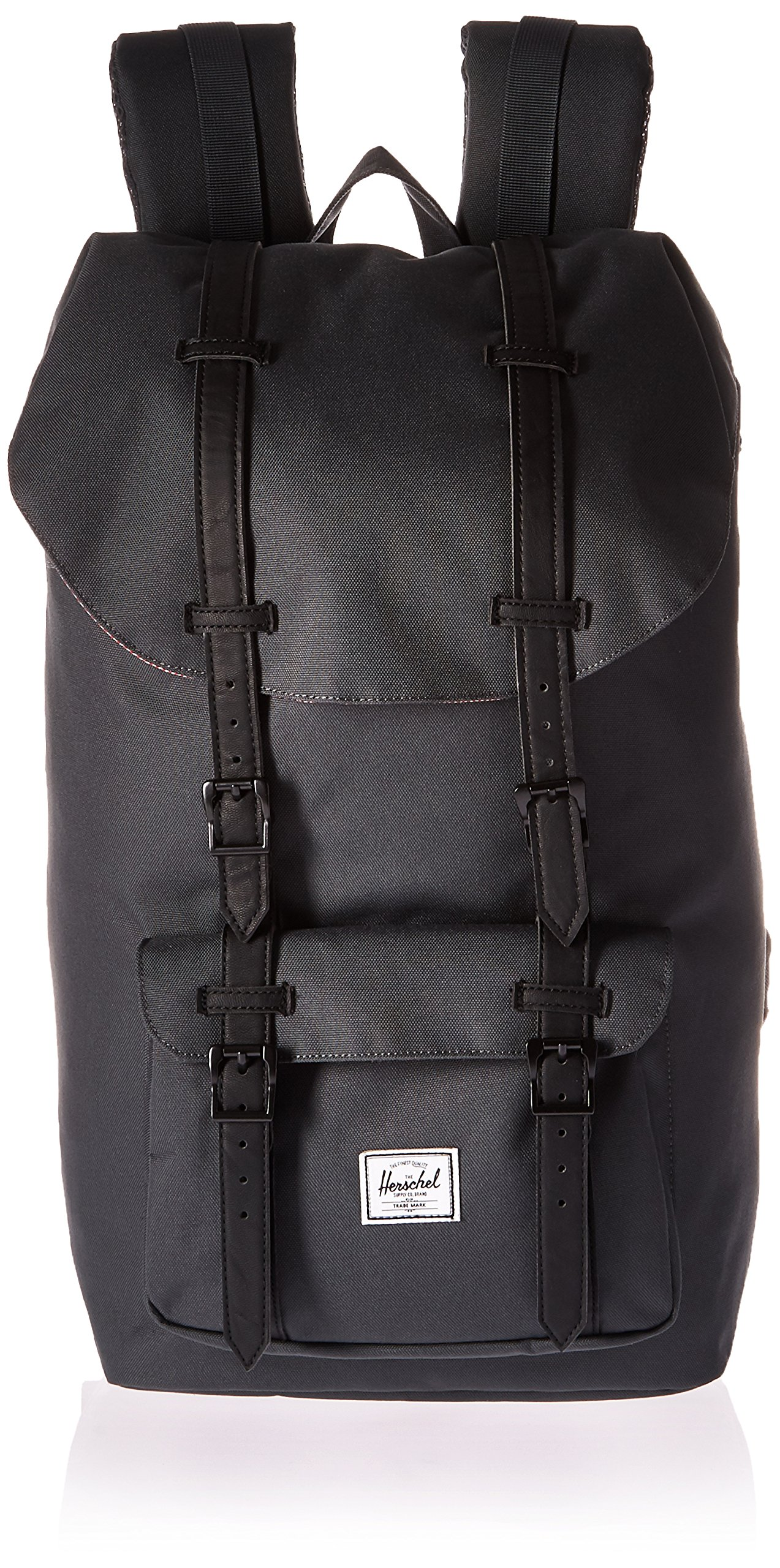 Herschel Supply Co. Little America Backpack, Dark Shadow/Black Synthetic Leather, One Size